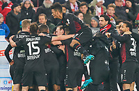 Lars BENDER, Lev 8 celebration 0-2  , Benjamin HENRICHS, LEV 39 <br /> VFB STUTTGART - BAYER 04 LEVERKUSEN 0-2<br /> Football 1. Bundesliga , Stuttgart,08.12.2017, 15. match day,  2017/2018, 1.Liga, 1.Bundesliga,<br />  *** Local Caption *** © pixathlon<br /> Contact: +49-40-22 63 02 60 , info@pixathlon.de