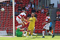 Fleetwood Town's Paddy Madden scores his side's second goal <br /> <br /> Photographer David Shipman/CameraSport<br /> <br /> The EFL Sky Bet League One - Doncaster Rovers v Fleetwood Town - Saturday 17th August 2019  - Keepmoat Stadium - Doncaster<br /> <br /> World Copyright © 2019 CameraSport. All rights reserved. 43 Linden Ave. Countesthorpe. Leicester. England. LE8 5PG - Tel: +44 (0) 116 277 4147 - admin@camerasport.com - www.camerasport.com