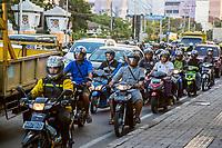 Yogyakarta, Java, Indonesia.  Evening Traffic,  Jl. Laksda Adisucipto Street.