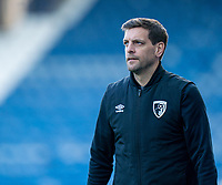 13th April 2021; The John Smiths Stadium, Huddersfield, Yorkshire, England; English Football League Championship Football, Huddersfield Town versus Bournemouth; Jonathan Woodgate Bournemouth manager watches the action from the sidelines