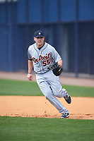 Detroit Tigers Niko Buentello (55) during practice before a minor league Spring Training game against the New York Yankees on March 22, 2017 at the Yankees Complex in Tampa, Florida.  (Mike Janes/Four Seam Images)