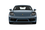 Car photography straight front view of a 2017 Porsche 718 Cayman S 3 Door Coupe