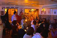 Fado in a restaurant in Alfama district. Lisbon, Portugal