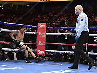 LAS VEGAS, NV - AUG 21: Óscar Escandón on the Fox Sports PBC pay-per-view fight night at the T-Mobile Arena on August 21, 2021 in Las Vegas, Nevada (Photo by Scott Kirkland/Fox Sports/PictureGroup)