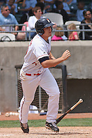 Kyle Bellows #10 of the Kinston Indians at bat during a game against the Lynchburg Hillcats at Granger Stadium on April 28, 2010 in Kinston, NC. Photo by Robert Gurganus/Four Seam Images.