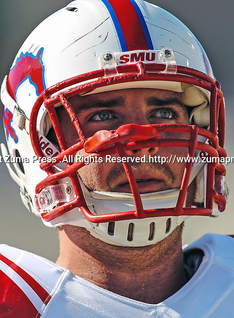 Southern Methodist Mustangs defensive end Margus Hunt (92) in action during the game between the Southern Methodist Mustangs and the Baylor Bears at the Floyd Casey Stadium in Waco, Texas. Baylor defeats SMU 59 to 24.