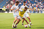 Real Madrid's Borja Mayoral, Marcos Llorente and Marco Asensio during XXXVIII Santiago Bernabeu Trophy at Santiago Bernabeu Stadium in Madrid, Spain August 23, 2017. (ALTERPHOTOS/Borja B.Hojas)