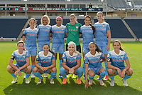Bridgeview, IL - Sunday June 25, 2017: Chicago Red Stars Starting XI during a regular season National Women's Soccer League (NWSL) match between the Chicago Red Stars and Sky Blue FC at Toyota Park. The Red Stars won 2-1.
