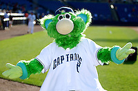 Lake County Captains mascot Skipper poses before a game against the Fort Wayne TinCaps at Classic Park on July 2, 2012 in Eastlake, Ohio.  Fort Wayne defeated Lake County 5-4.  (Mike Janes/Four Seam Images)