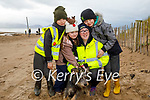 Enjoying a stroll in Inch Beach on Saturday, l to r: Ben, George, Lucy and Sarah Martin and Bosco the dog