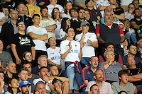 Pictured: Swansea supporters Saturday 27 August 2016<br />