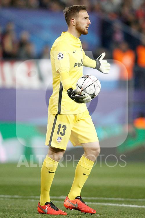 Atletico de Madrid's Jan Oblak during UEFA Champions League match. March 15,2016. (ALTERPHOTOS/Acero)