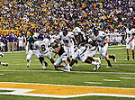 Stephen F. Austin Lumberjacks running back Gus Johnson (6) in action during the game between the Stephen F. Austin Lumberjacks and the Baylor Bears at the Floyd Casey Stadium in Waco, Texas. Baylor defeats SFA 48 to 0.