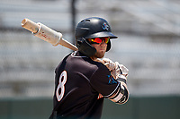 Jupiter Hammerheads Cameron Baranek (8) on deck during a Florida State League game against the Dunedin Blue Jays on May 16, 2019 at Jack Russell Memorial Stadium in Clearwater, Florida.  Dunedin defeated Jupiter 1-0.  (Mike Janes/Four Seam Images)