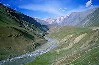 River between Srinagar and Leh in Ladakh, Kashmir, India.