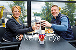 Enjoying a meal and drinks at the Horseshoe Bar in Listowel on Bank Holiday Monday, l to r:  Helen and Allen McCarthy.