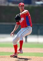 March 30, 2010:  Pitcher Darren Byrd of the Philadelphia Phillies organization during Spring Training at the Carpenter Complex in Clearwater, FL.  Photo By Mike Janes/Four Seam Images