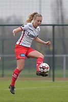Zulte Waregem's forward Corina Luijks pictured during a female soccer game between SV Zulte - Waregem and White Star Woluwe on the 9th matchday of the 2020 - 2021 season of Belgian Scooore Women s SuperLeague , saturday 12 th of December 2020  in Waregem , Belgium . PHOTO SPORTPIX.BE | SPP | DIRK VUYLSTEKE