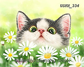 Kayomi, CUTE ANIMALS, LUSTIGE TIERE, ANIMALITOS DIVERTIDOS, paintings+++++,USKH334,#ac#, EVERYDAY ,cat,cats