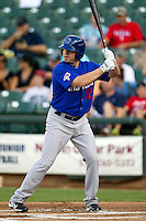 Las Vegas 51s outfielder Jack Cust #32 at bat during the Pacific Coast League baseball game against the Round Rock Express on August 7th, 2012 at the Dell Diamond in Round Rock, Texas. The Express defeated the 51s 5-4. (Andrew Woolley/Four Seam Images).