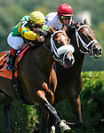 28 August 10: Forum (Roman Ruler) and jockey  Edgar Prado win a maiden race on Travers Day at Saratoga Race Course in  Saratoga Springs, New York.