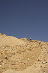 Israel, Negev, the ancient stairs to Tel Nitzana