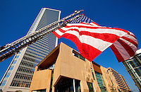 Photography of the 10 year anniversary memorials of the September 11th terrorism attacks. in downtown / uptown / center city Charlotte, the Charlotte Fire Fighters' Association hosted a 9/11 Memorial Stair Climb at the Duke Energy Center at 550 South Tryon St.