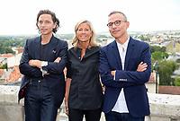 Raphael, Claire Chazal, Philippe Besson - Festival du film francophone d'Angouleme - Angouleme, France, 22/08/2017. # FESTIVAL DU FILM FRANCOPHONE D'ANGOULEME - JOUR 1