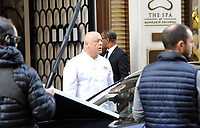 November 3 2017, PARIS FRANCE Thierry Marx the French Cook is taking part in an Advertising Shoot for the Michelin<br /> Guide at the Mandarin Oriental Hotel on Saint Honoré street.