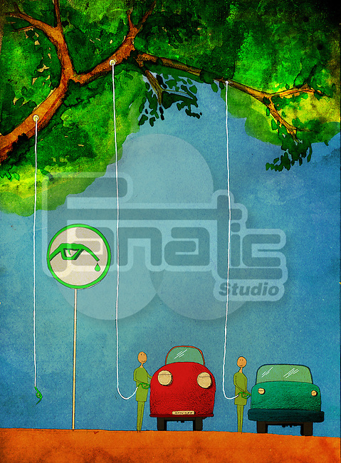 Illustrative representation conveying the message Use Eco Friendly fuel