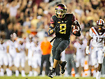 Florida State wide receiver Nyqwan Murray (8) runs against Virginia Tech in the 2nd half of an NCAA college football game in Tallahassee, Fla., Monday, Sept. 3, 2018. Virginia Tech defeated Florida State 24-3.  (AP Photo/Mark Wallheiser)