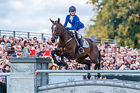 USA-Andrea Baxter rides Indy 500 during the Showjumping. 2019 GBR-Land Rover Burghley Horse Trials. Sunday 8 September. Copyright Photo: Libby Law Photography