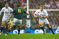 Tom Youngs of England in action during the QBE Autumn International match between England and South Africa at Twickenham on Saturday 24 November 2012 (Photo by Rob Munro)