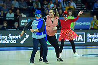 Halftime entertainment during the ANZ Premiership netball final between Northern Mystics and Mainland Tactix at Spark Arena in Auckland, New Zealand on Sunday, 8 August 2021. Photo: Dave Lintott / lintottphoto.co.nz