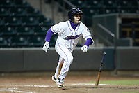 Nick Madrigal (3) of the Winston-Salem Dash starts down the first base line during the game against the Wilmington Blue Rocks at BB&T Ballpark on April 15, 2019 in Winston-Salem, North Carolina. The Dash defeated the Blue Rocks 9-8. (Brian Westerholt/Four Seam Images)
