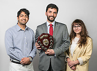 Pictured is winner of Nottinghamshire Law Society's Kevin De Silva Essay Prize Sam Hussani of the University of Nottingham, along with second place Jessica Allen also of the University of Nottingham and Munsif Khan (left) from Nottingham Law School