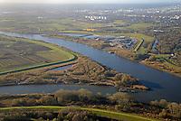 Tiedeelbe Konzept Kreetsand und Priel Neubau Spadenländer Spitze: EUROPA, DEUTSCHLAND, HAMBURG 21.11.2016:  Wasserbauprojekte an der Elbe in Hamburg, Deichrückverlegung und Prielneubau,