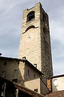 La Torre Civica in Piazza Vecchia a Bergamo. <br /> The Torre Civica (Civic Tower) in Piazza Vecchia, Bergamo.<br /> UPDATE IMAGES PRESS/Riccardo De Luca