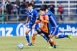 Ulsan Hyundai Defender Lee Kije (L) in action against Ulsan Hyundai Forward Kim Seungjun (R) during the AFC Champions League 2017 Group E match between Ulsan Hyundai FC (KOR) vs Brisbane Roar (AUS) at the Ulsan Munsu Football Stadium on 28 February 2017 in Ulsan, South Korea. Photo by Victor Fraile / Power Sport Images