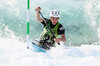 Cole Anderson. Oceania Canoe Slalom Championships, Whero Whitewater Park, Auckland, New Zealand, 1st February 2020. Photo: Simon Watts/www.bwmedia.co.nz