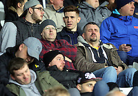 Pictured: Swansea supporters Tuesday 28 February 2017<br /> Re: Premier League International Cup, Swansea City U23 v Hertha Berlin II at at the Liberty Stadium, Swansea, UK