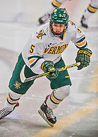 13 February 2015: University of Vermont Catamount Forward Casey Leveillee, a Sophomore from Delanson, NY, in first period action against the University of New Hampshire Wildcats at Gutterson Fieldhouse in Burlington, Vermont. The Lady Cats fell to the Wildcats 4-2 in Hockey East play. Mandatory Credit: Ed Wolfstein Photo *** RAW (NEF) Image File Available ***