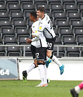 1st May 2021; Liberty Stadium, Swansea, Glamorgan, Wales; English Football League Championship Football, Swansea City versus Derby County; Morgan Whittaker of Swansea City celebrates after scoring the equalizer to make it 1-1 in the 64th minute