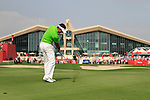Charl Schwartzel plays his 2nd shot on the 9th hole during Day 3 Saturday of the Abu Dhabi HSBC Golf Championship, 22nd January 2011..(Picture Eoin Clarke/www.golffile.ie)