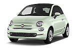 2016 Fiat 500 Lounge 3 Door Hatchback Angular Front stock photos of front three quarter view
