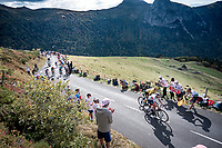 Tadej Pogačar (SVK/UAE-Emirates) & Primoz Roglic (SVK/Jumbo-Visma) side by side up the Puy Mary (uphill finish)<br /> <br /> Stage 13 from Châtel-Guyon to Pas de Peyrol (Le Puy Mary) (192km)<br /> <br /> 107th Tour de France 2020 (2.UWT)<br /> (the 'postponed edition' held in september)<br /> <br /> ©kramon