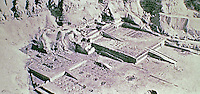 Deir el-Bahari or Dayr al-Bahri is a complex of mortuary temples and tombs located on the west bank of the Nile, opposite the city of Luxor, Egypt. UNESCO World Heritage Site 1979, Architect Senenmut