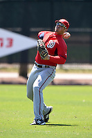 Washington Nationals outfielder Brandon Miller (25) during practice before a minor league spring training game against the Atlanta Braves on March 26, 2014 at Wide World of Sports in Orlando, Florida.  (Mike Janes/Four Seam Images)