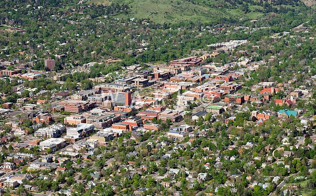 Aerial of Boulder, Colorado. May 2013.