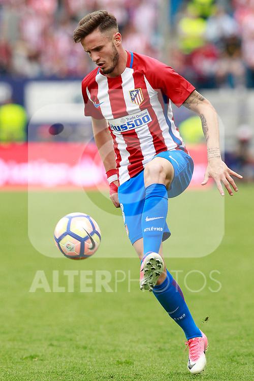 Atletico de Madrid's Saul Niguez during La Liga match. May 21,2017. (ALTERPHOTOS/Acero)